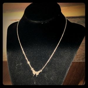 925s Sterling silver butterfly minimalist necklace